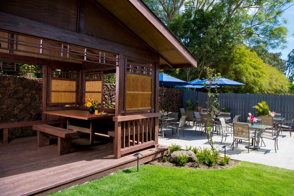 patio with covered seating